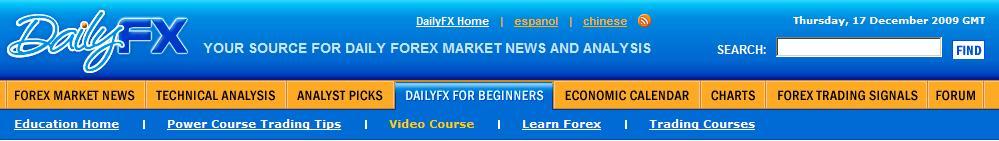 DailyFX Video Trading Course