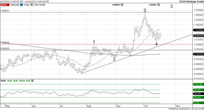 Canadian Dollar 5th Wave Interpretation Still Valid