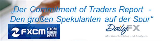 Den großen Marktteilnehmer auf der Spur -  EUR/USD & der COT Report
