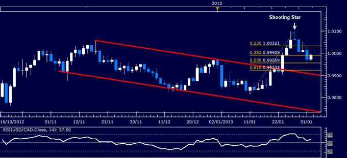 USD/CAD Technical Analysis 02.01.2013