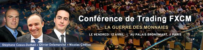 Conférence de Trading FXCM, la Guerre des Monnaies - Paris le vendredi 12 avril