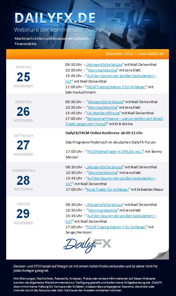 DailyFX Webinare im Live Stream