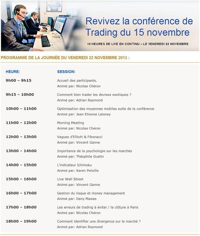 JOUR J : 10 heures de conférence de marché sur DailyFX.fr - 9h/19h