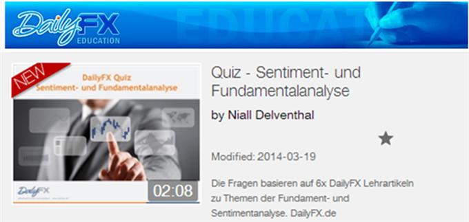 DailyFX Quiz: Sentiment- und Fundamentalanalyse