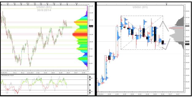 Crude-Oil und Gold - Market-Profile (30.06.2014)