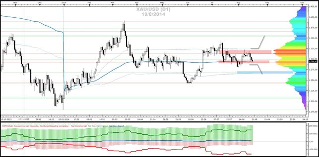 Crude-Oil, Gold- und Silber - Market-Profile (20.08.2014)