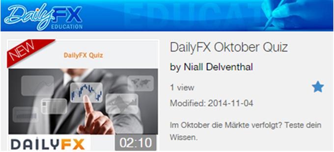 DailyFX Oktober Quiz - Testen Sie Ihr Wissen