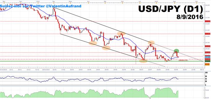 USDJPY : Le dollar US met sous pression l'USDJPY
